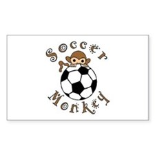 Soccer Monkey Rectangle Decal