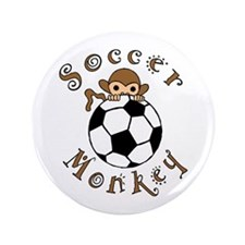 "Soccer Monkey 3.5"" Button"