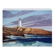 Peggy's Cove Lighthouse Wall Calendar