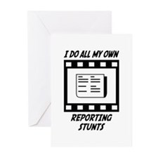 Reporting Stunts Greeting Cards (Pk of 10)