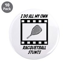 "Racquetball Stunts 3.5"" Button (10 pack)"