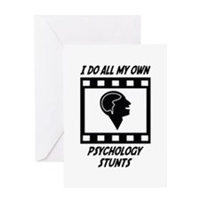 Psychology Stunts Greeting Card