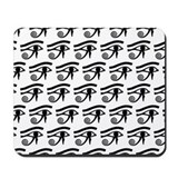 Eye of Horus Hieroglyphic Pattern Mousepad