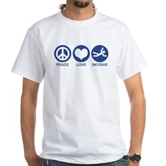 Peace Love Skydive White T-Shirt