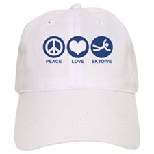 Peace Love Skydive Baseball Cap