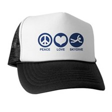 Peace Love Skydive Trucker Hat