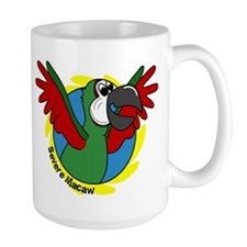 Cartoon Bird Severe Macaw Mug