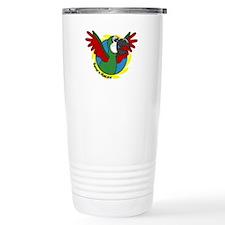 Cartoon Bird Severe Macaw Travel Mug