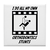 Orthodontics Stunts Tile Coaster