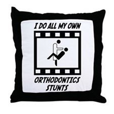 Orthodontics Stunts Throw Pillow
