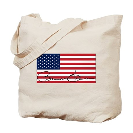 Obama Flag Signature Tote Bag