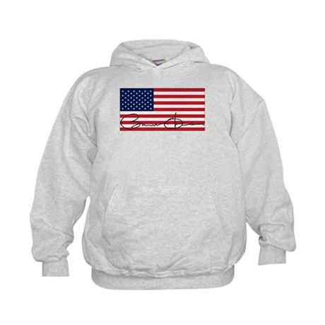 Obama Flag Signature Kids Hoodie
