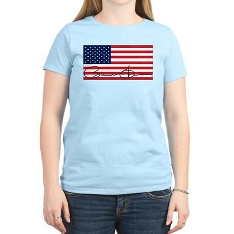 Obama Flag Signature Women's Light T-Shirt