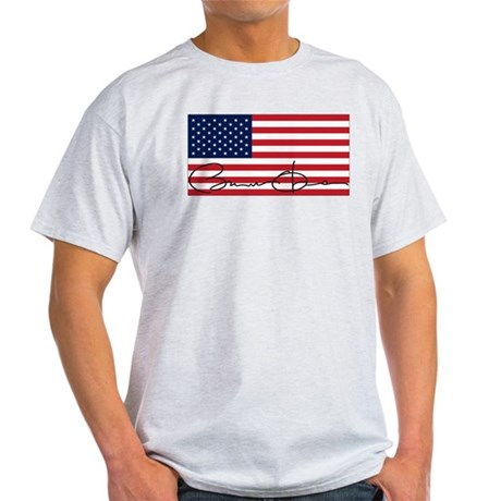 Obama Flag Signature Light T-Shirt