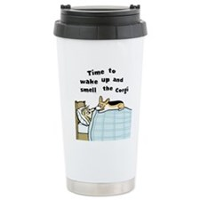 Wake Up & Smell the Corgi Ceramic Travel Mug