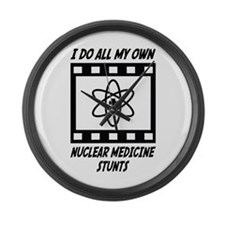 Nuclear Medicine Stunts Large Wall Clock