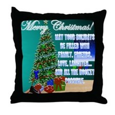 Christmas Hockey Cards & Gifts 2 Throw Pillow