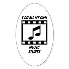 Music Stunts Oval Sticker (10 pk)