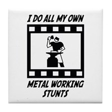Metal Working Stunts Tile Coaster