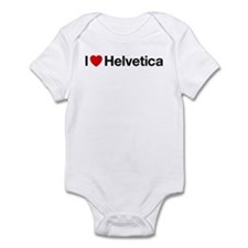 i heart helvetica Infant Bodysuit
