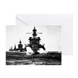 BATTLESHIP USS PENNSYLVANIA Greeting Cards (Pk of
