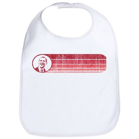 Obama (retro red) tshirts, bu Bib