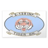 2-128th Infantry <BR>Tiger Decal