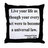 Immanuel Kant 3 Throw Pillow