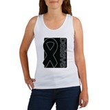 Black (Believe) Ribbon Women's Tank Top