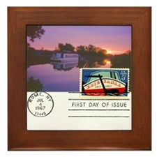 Erie Canal Framed Tile