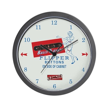 "Gottlieb® ""Flipper Girl"" Wall Clock"