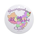 Shuangyashan China Ornament (Round)