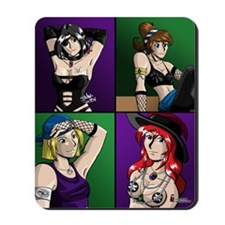 Pirate Anime Girls Mousepad