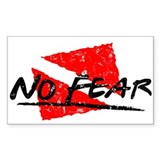 No Fear Dive Flag Rectangle Decal