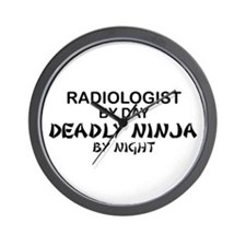 Radiologist Deadly Ninja by Night Wall Clock