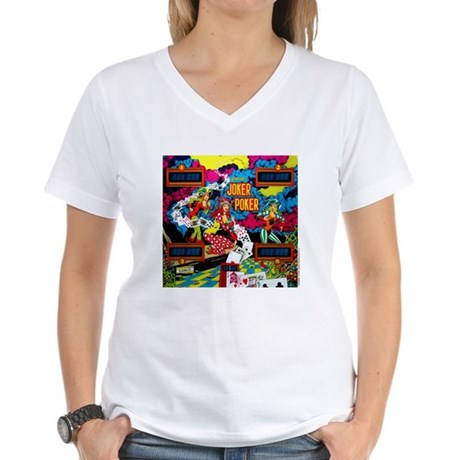 "Gottlieb® ""Joker Poker"" Women's V-Neck T-Shirt"