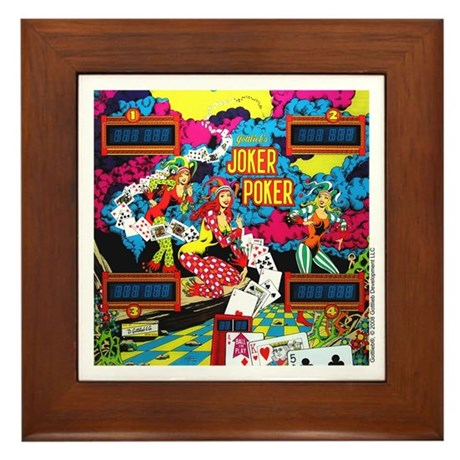 "Gottlieb® ""Joker Poker"" Framed Tile"