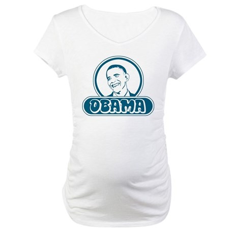 Obama (retro bubble) Maternity T-Shirt
