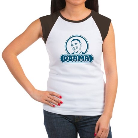 Obama (retro bubble) Women's Cap Sleeve T-Shirt