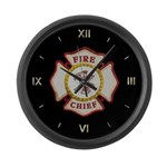 Fire Chief Property Large Wall Clock