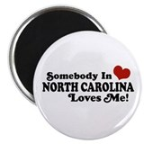 Somebody in North Carolina Loves me Magnet