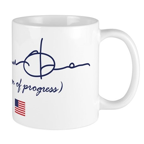 Obama is a Sign of Progress Mug