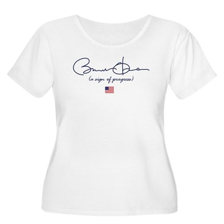 Obama is a Sign of Progress Women's Plus Size Scoo