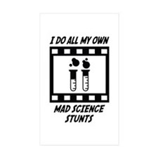 Mad Science Stunts Rectangle Sticker 10 pk)