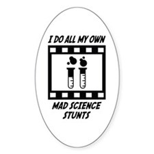 Mad Science Stunts Oval Decal