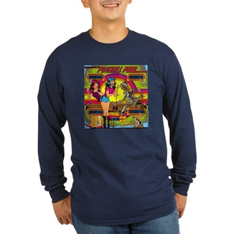 "Gottlieb® ""Pinball Pool"" Long Sleeve Dark T-Sh"