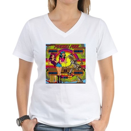 "Gottlieb® ""Pinball Pool"" Women's V-Neck T-Shir"