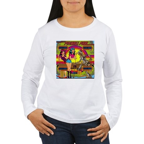 "Gottlieb® ""Pinball Pool"" Women's Long Sleeve T"