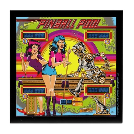 "Gottlieb® ""Pinball Pool"" Tile Coaster"