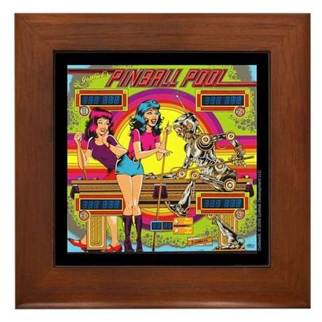 "Gottlieb® ""Pinball Pool"" Framed Tile"